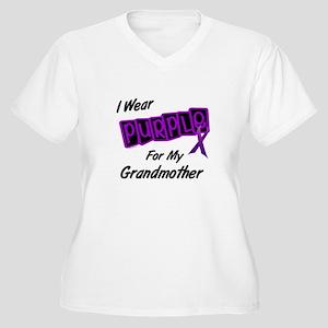 I Wear Purple For My Grandmother 8 Women's Plus Si