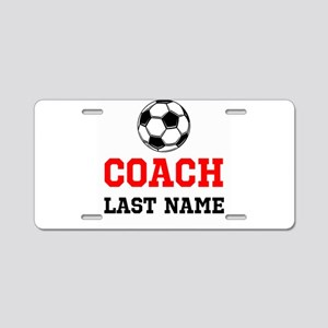 Soccer Coach Aluminum License Plate