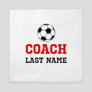 Soccer Coach Queen Duvet