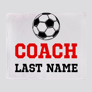 Soccer Coach Throw Blanket