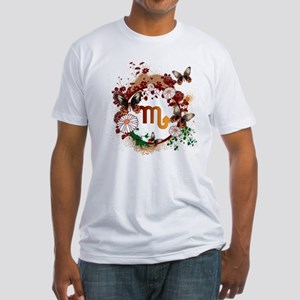 Psychedelic Scorpio Fitted T-Shirt
