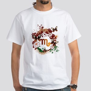 Psychedelic Scorpio White T-Shirt