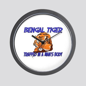Bengal Tiger Trapped In A Man's Body Wall Clock