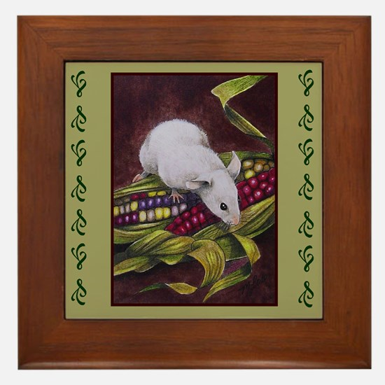 Thanksgiving Mouse Framed Art Tile