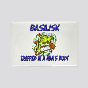 Basilisk Trapped In A Man's Body Rectangle Magnet
