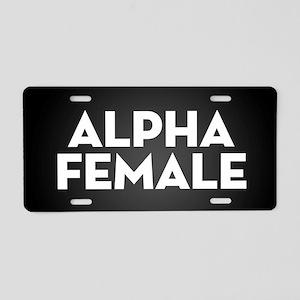 Alpha Female Aluminum License Plate
