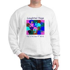 Laughter Yoga FUN Blue Unisex Sweatshirt