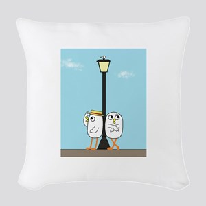 Hanging Out Woven Throw Pillow