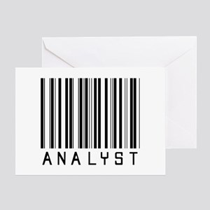 Analyst Barcode Greeting Card