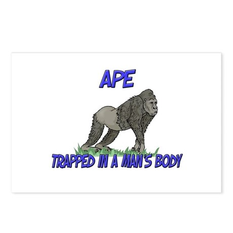 Ape Trapped In A Man's Body Postcards (Package of