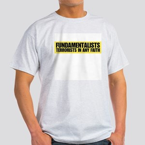 Fundamentalists, terrorists i Ash Grey T-Shirt