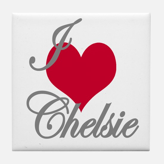 I love (heart) Chelsie Tile Coaster