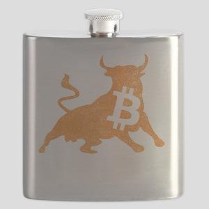 Bitcoin Bull Crypto Currency BTC Flask