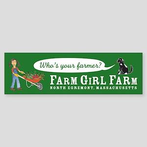 Farm Girl Bumper Sticker