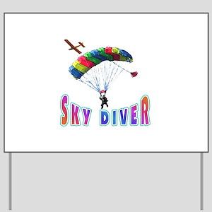 Sky Diver Yard Sign