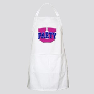 Party U/(Pink/Blue Logo) BBQ Apron