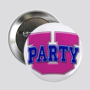 Party U/(Pink/Blue Logo) Button