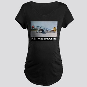 P-51D Mustang Maternity Dark T-Shirt