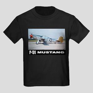 P-51D Mustang Kids Dark T-Shirt