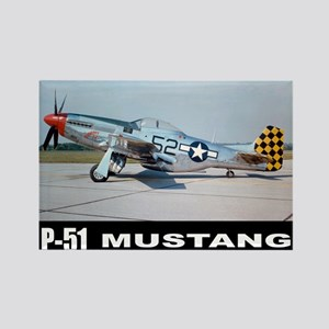 P-51D Mustang Rectangle Magnet