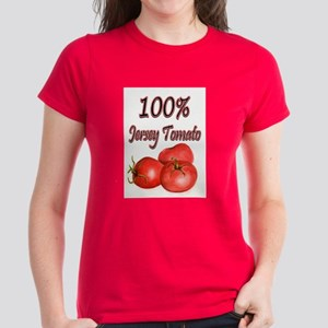 Jersey Girl Jersey Tomato Women's Dark T-Shirt