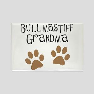 Bullmastiff Grandma Rectangle Magnet