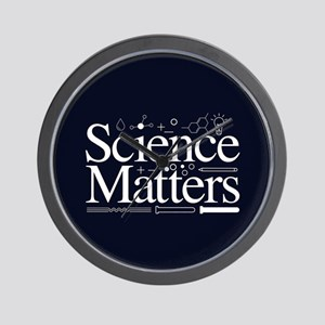 Science Matters Wall Clock