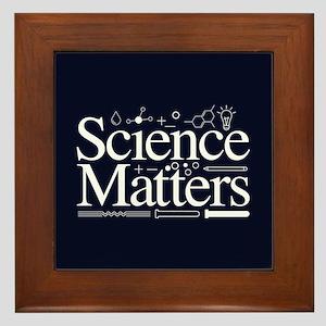 Science Matters Framed Tile