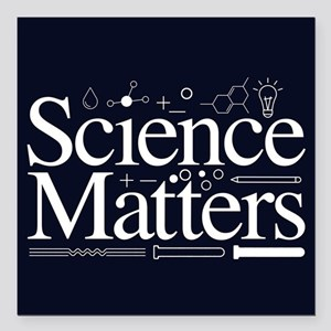 "Science Matters Square Car Magnet 3"" x 3"""