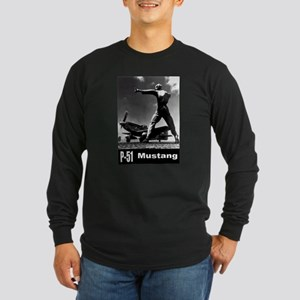 P-51 Mustang Long Sleeve Dark T-Shirt