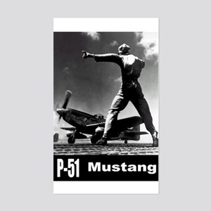 P-51 Mustang Rectangle Sticker