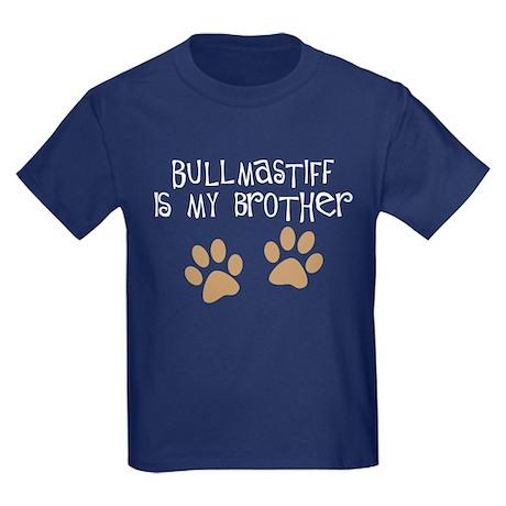Bullmastiff Is My Brother Kids Dark T-Shirt