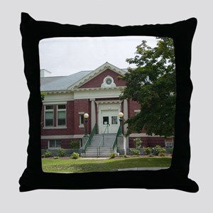 Goffstown NH Library Throw Pillow