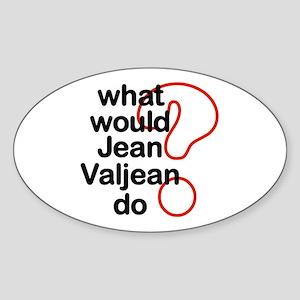Jean Valjean Oval Sticker