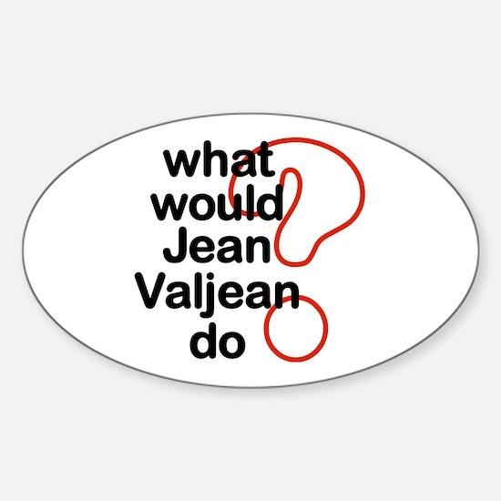 Jean Valjean Oval Decal