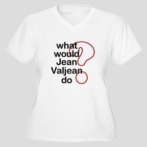 Jean Valjean Women's Plus Size V-Neck T-Shirt