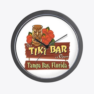 Tampa Bay Tiki Bar - Wall Clock