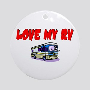 Love My RV Ornament (Round)