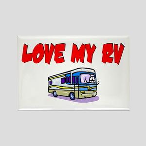 Love My RV Rectangle Magnet