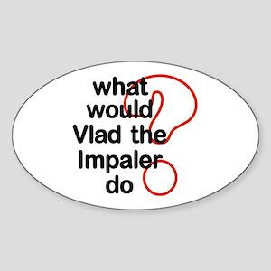 Vlad the Impaler Oval Sticker