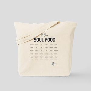 I Love Soul Food Tote Bag