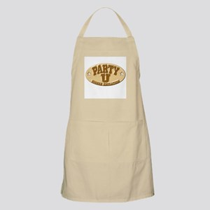 Party U/Higher Ed (gold nameplate) BBQ Apron