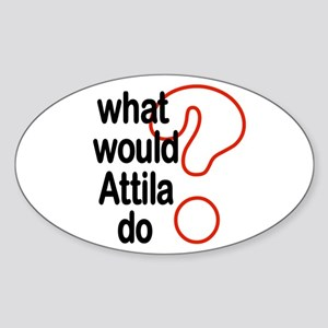 Attila Oval Sticker