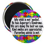 He Has Asperger's Magnet