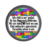 He Has Asperger's Wall Clock