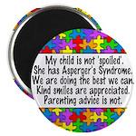 She Has Asperger's Magnet