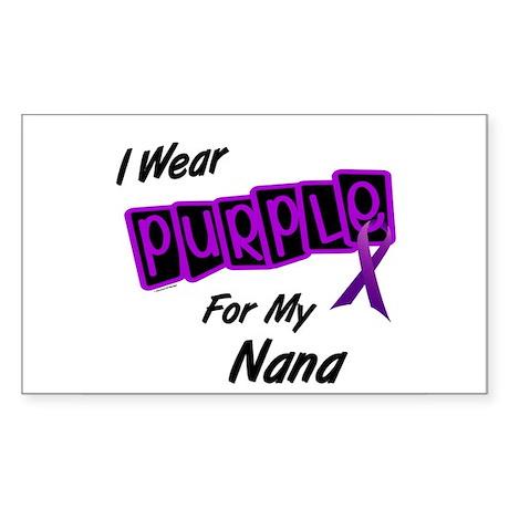 I Wear Purple For My Nana 8 Rectangle Sticker