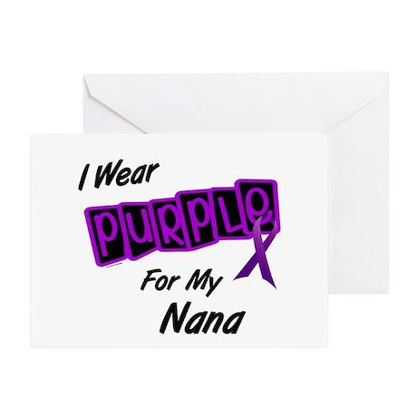 I Wear Purple For My Nana 8 Greeting Card