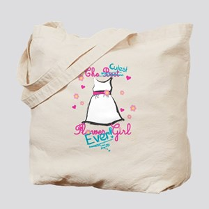 Cutest Flower Girl Ever! Pink Tote Bag
