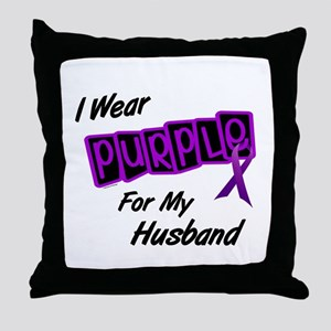 I Wear Purple For My Husband 8 Throw Pillow